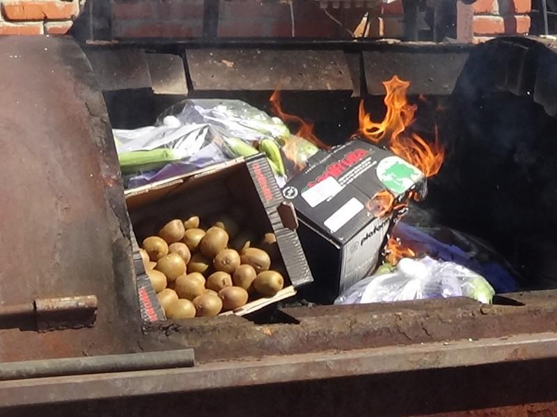 ВКурске сожгли киви икабачки