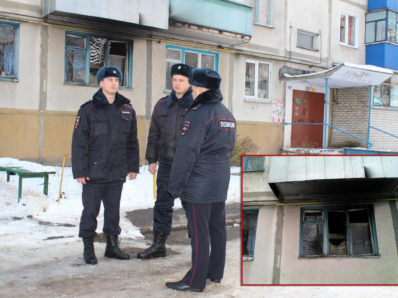 Работники курской Росгвардии вывели людей изгорящей квартиры