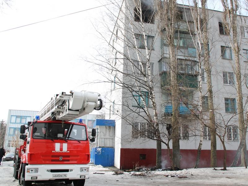 Вгороде Курске вквартире поулице Союзной на100% выгорела комната